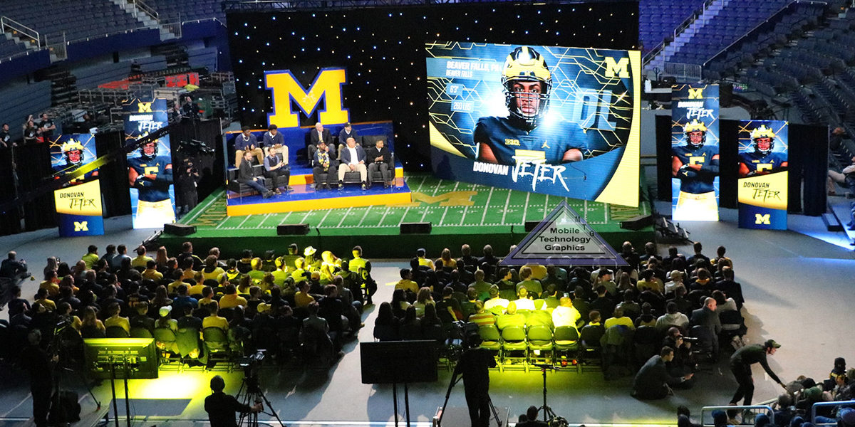 Broadcast set LED video wall Rentals Lansing, Michigan